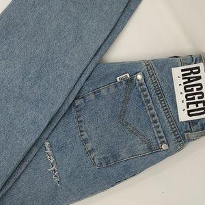 Slim Straight Leg Blue Jeans